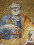Mosaic Depicting St. Peter in St. Peter's Basilica, Vatican, Rome, Lazio, Italy, Europe Photographic Print by  Godong