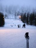 Pyha-Luosto Ski Resort at Dusk, Finnish Lapland, Finland, Scandinavia, Europe Photographic Print by Michael Kelly