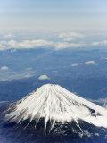 Aerial View of Mount Fuji, Shizuoka Prefecture, Japan, Asia Photographic Print by Christian Kober