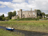 Castle and Foreshore, Laugharne, Carmarthenshire, South Wales, Wales, United Kingdom, Europe Photographic Print by Julian Pottage