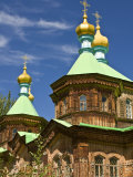 Russian Orthodox Church in Karakol, Kyrgyzstan, Central Asia Photographic Print by Michael Runkel