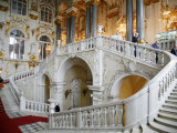Main Staircase at the Winter Palace. St. Petersburg, Russia, Europe Photographic Print by Yadid Levy