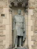 Statue of Robert the Bruce at Entrance to Edinburgh Castle, Edinburgh, Scotland, United Kingdom Photographic Print by Richard Maschmeyer