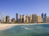 Hotel and Apartment Buildings Along the Seafront, Dubai Marina, United Arab Emirates, Middle East Photographic Print by Amanda Hall