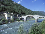 Ganda Bridge over the Adda River Near Morbegno, Valtellina, Lombardy, Italy, Europe Photographic Print by Vincenzo Lombardo