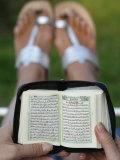 Woman Reading Koran Photographic Print by  Godong