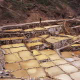 Salt Pans, Salineras De Maras, Sacred Valley, Cuzco Region, Urubamba Valley, Peru, South America Photographic Print by Aaron McCoy