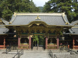Rinnoji Taiyuin Temple, Nio-Mon Gate, Nikko Temples, Central Honshu, Japan Photographic Print by Tony Waltham