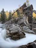 Crystal Mill with Aspens in Fall Colors, Crystal, Colorado, United States of America, North America Photographic Print by James Hager