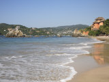 Playa La Ropa, Pacific Ocean, Zihuatanejo, Guerrero State, Mexico, North America Photographic Print by Wendy Connett
