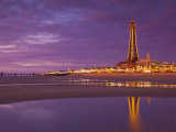 Blackpool Illuminations at Sunset, Blackpool, Lancashire, England, United Kingdom Photographic Print by Neale Clark