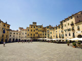 Piazza Anfiteatro, Lucca, Tuscany, Italy, Europe Photographic Print by Nico Tondini