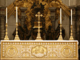 Main Altar, St. Peter's Basilica, Vatican, Rome, Lazio, Italy, Europe Photographic Print by  Godong