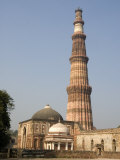 Qutb Minar, Victory Tower 73M High, Built Between 1193 and 1368 of Sandstone, Delhi, India Photographic Print by Tony Waltham