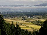 Yonezawa Plain, Yamagata-Ken, Northern Honshu, Japan Photographic Print by Tony Waltham
