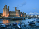 Caernarfon Castle, Caernarfon, UNESCO World Heritage Site, Gwynedd, Wales, United Kingdom, Europe Photographic Print by John Woodworth