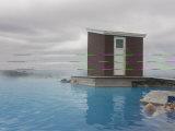 Young Woman Enjoying Bathing in Hot Spring, Myvatn, Iceland, Polar Regions Photographic Print by Michael Runkel