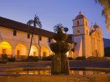 Fountain, Old Mission Santa Barbara, Santa Barbara, California Photographic Print by Richard Cummins