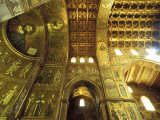 Cathedral Interior, Monreale, Palermo, Sicily, Italy, Europe Photographic Print by Vincenzo Lombardo