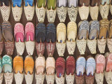 Traditional Arabic Curly Toed Slippers, Deira, Dubai, United Arab Emirates, Middle East Photographic Print by Amanda Hall