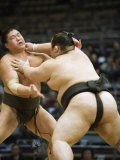 Fukuoka Sumo Competition, Kyushu Basho, Fukuoka City, Kyushu, Japan, Asia Photographic Print by Christian Kober