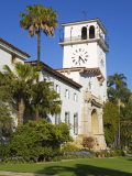 Clock Tower, Santa Barbara County Courthouse, Santa Barbara, California, United States of America,  Photographic Print by Richard Cummins