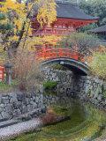 Arched Bridge and Pavilion, Shimogamo Shrine, Tadasu No Mori, Kyoto, Japan, Asia Photographic Print by Christian Kober