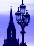 Street Light, Westminster Bridge, London, England, United Kingdom, Europe Photographic Print by Charles Bowman