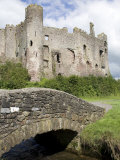 Castle and Footbridge, Laugharne, Carmarthenshire, South Wales, Wales, United Kingdom, Europe Photographic Print by Julian Pottage
