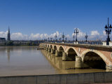 Pont De Pierre, Bordeaux, Gironde, Aquitaine, France, Europe Photographic Print by Charles Bowman