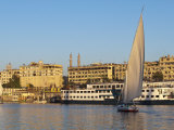 Felucca Sailing on the River Nile Near Aswan, Egypt, North Africa, Africa Photographic Print by Michael DeFreitas