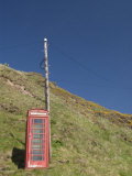 Isolated Telephone Box, Crovie, Highlands, Scotland, United Kingdom, Europe Photographic Print by Richard Maschmeyer