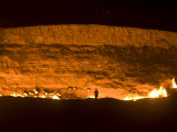 Darvaza Gas Crater, Turkmenistan, Central Asia, Asia Photographic Print by Michael Runkel
