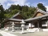 Zen Buddhist Temple of Zenpo-Ji, Tsuruoka, Yamagata-Ken, Northwestern Honshu, Japan Photographic Print by Tony Waltham