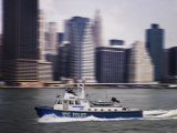 Police Launch, Hudson River, New York City, United States of America, North America Photographic Print