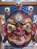Festival Mask in a Souvenir Shop, Bhutan, Asia, Photographic Print