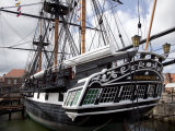 Stern View of HMS Trincomalee, British Frigate of 1817, at Hartlepool Maritime Experience, England Photographic Print by Nick Servian