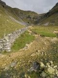 Entrance to Malham Cove with Threatening Clouds Overhead, Yorkshire, England, United Kingdom Photographic Print by John Woodworth