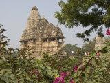 Lakshmana Temple, Chandela Temple Dedicated to Vishnu, Khajuraho, Madhya Pradesh State, India Photographic Print by Tony Waltham