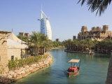 Madinat Jumeirah and Burj Al Arab Hotels, Jumeirah Beach, Dubai, United Arab Emirates, Middle East Photographic Print by Amanda Hall