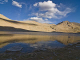 Mountain Landscape and Small Body of Water in the Wakhan Valley, Tajikistan, Central Asia, Asia Photographic Print by Michael Runkel