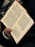 Jew Reading Patah Eliahou Prayer Book, Paris, France, Europe Photographic Print by  Godong