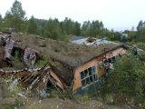 School Destroyed During the 2000 Eruption of Usu Volcano, Toya-Shikotsu National Park, Japan Photographic Print by Tony Waltham