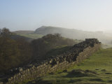 Walltown Crags Looking East, Hadrians Wall, UNESCO World Heritage Site, Northumberland, England Photographic Print by James Emmerson