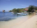 Half Moon Bay, Roatan, Bay Islands, Honduras, Central America Fotografiskt tryck av Jane Sweeney