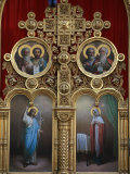 Iconostasis in Aghios Andreas Monastery Church on Mount Athos, Greece, Europe Photographic Print by Godong 