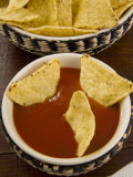 Tortilla Chips with Chili Sauce, Mexican Food, Mexico, North America Photographic Print by Nico Tondini