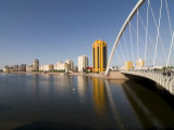 Modern Bridge, Astana, Kazakhstan, Central Asia Photographic Print by Michael Runkel