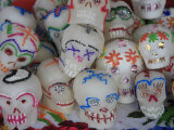 Sugar Candy Skulls, Day of the Dead, Patzcuaro, Michoacan State, Mexico, North America Photographic Print by Wendy Connett