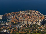 Overlooking the Old Town of Dubrovnik, UNESCO World Heritage Site, Croatia, Europe Photographic Print by Michael Runkel